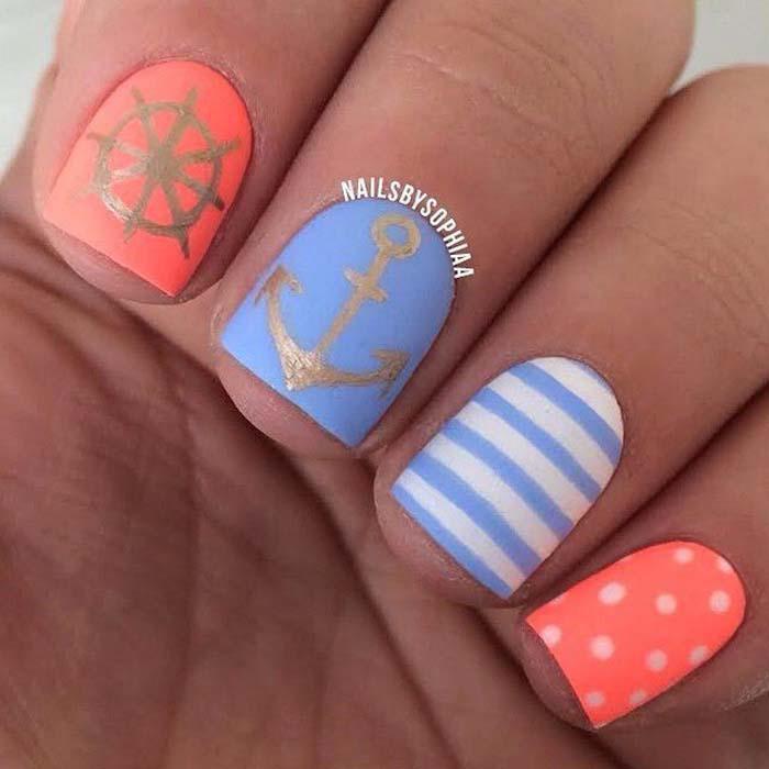 Παστέλ μανικιούρ: 48 υπέροχες ιδέες για υπέροχα καλοκαιρινά νύχια (22)