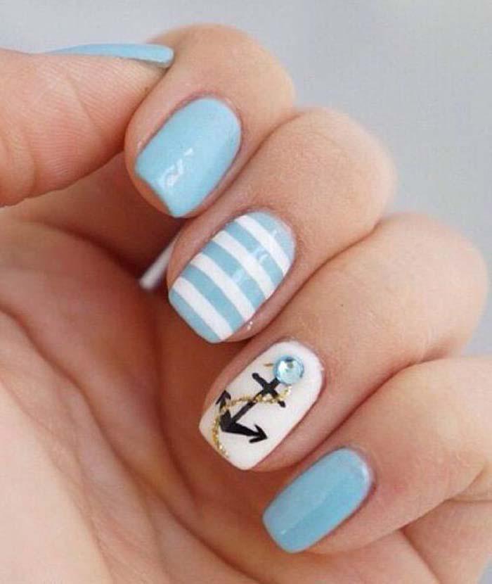 Παστέλ μανικιούρ: 48 υπέροχες ιδέες για υπέροχα καλοκαιρινά νύχια (24)