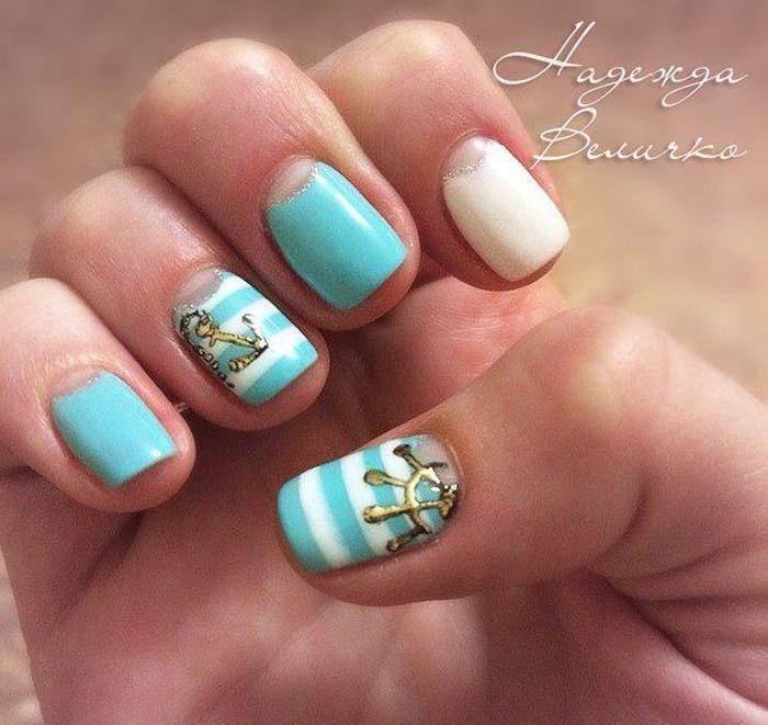 Παστέλ μανικιούρ: 48 υπέροχες ιδέες για υπέροχα καλοκαιρινά νύχια (26)