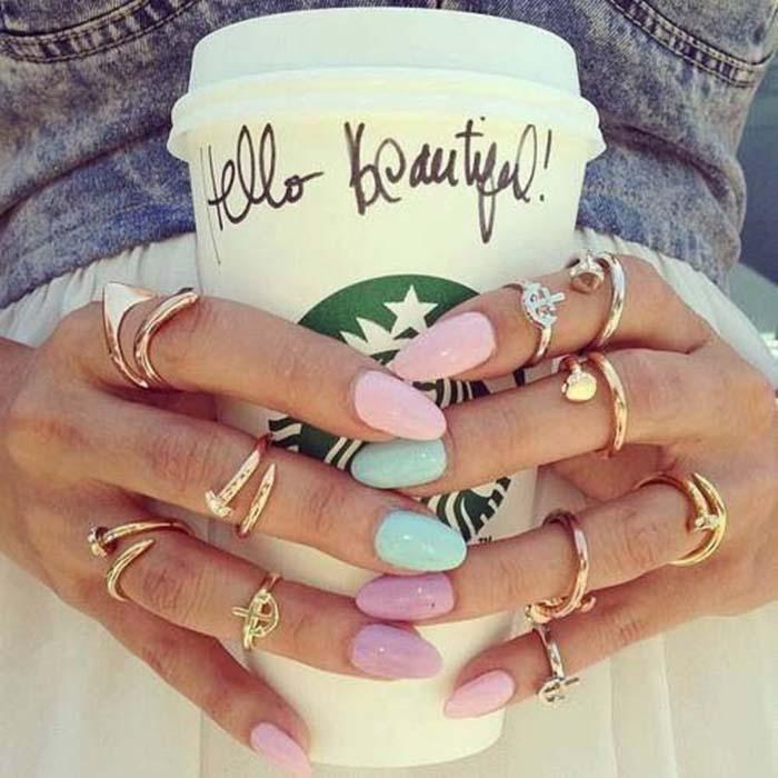 Παστέλ μανικιούρ: 48 υπέροχες ιδέες για υπέροχα καλοκαιρινά νύχια (44)