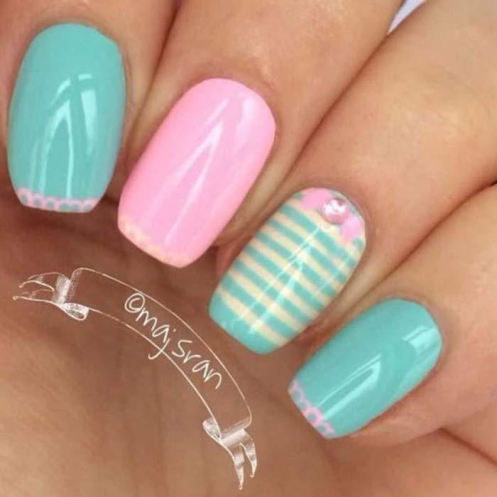 Παστέλ μανικιούρ: 48 υπέροχες ιδέες για υπέροχα καλοκαιρινά νύχια (45)