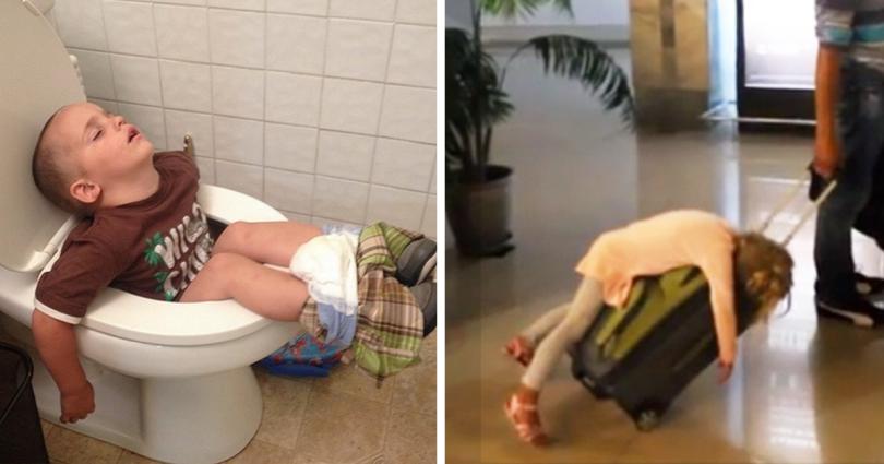 15 Ξεκαρδιστικές Φωτογραφίες παιδιών που κοιμούνται όπου Σταθούν κι όπου Βρουν. Η 13η θα σας φτιάξει τη Μέρα!