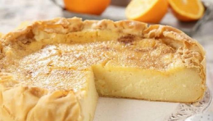Φτιάξτε πεντανόστιμη γαλατόπιτα της γιαγιάς με πορτοκάλι και κανέλα!