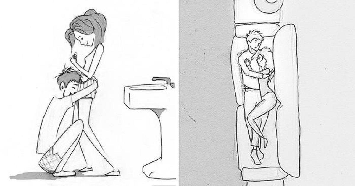 Καλλιτέχνης φτιάχνει σκιτσάκια ευγνωμοσύνης για κάθε μέρα που περνά με την αγαπημένη του σύζυγο.