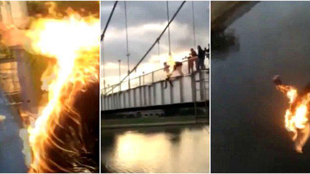 2 Έφηβοι έβαλαν φωτιά στον εαυτό τους και πήδηξαν σε ποτάμι για να μαζέψουν Like!