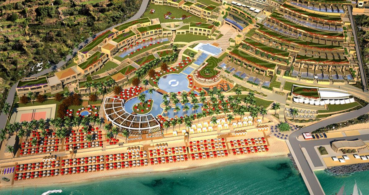 To εξωφρενικό ξενοδοχείο «ανάκτορο» των 120 εκατ. ευρώ στο δεύτερο πόδι της Χαλκιδικής.