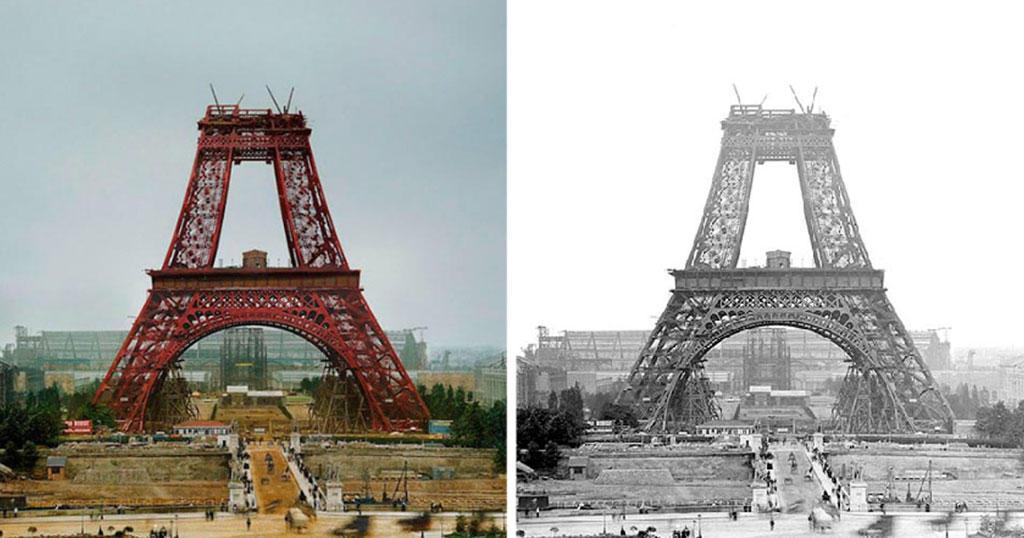 9 διάσημα αξιοθέατα όσο ήταν ακόμα υπό κατασκευή σε σπάνιες ιστορικές έγχρωμες φωτογραφίες.