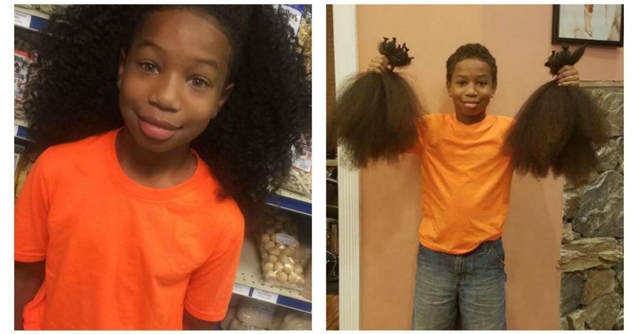 8χρονο αγοράκι άφησε τα μαλλιά του να μακρύνουν για 2 χρόνια, ώστε να φτιάξει περούκες για άρρωστα παιδάκια με καρκίνο
