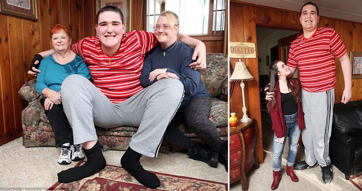 Έφηβος πάσχει από σπάνιο σύνδρομο γιγαντισμού και έχει ύψος 2μιση μέτρα.