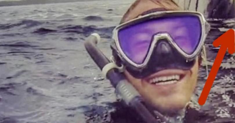 Δύτης βγάζει selfie στην επιφάνεια της θάλασσας. Όταν βλέπει τι βρίσκεται ακριβώς πίσω του, μένει άφωνος!