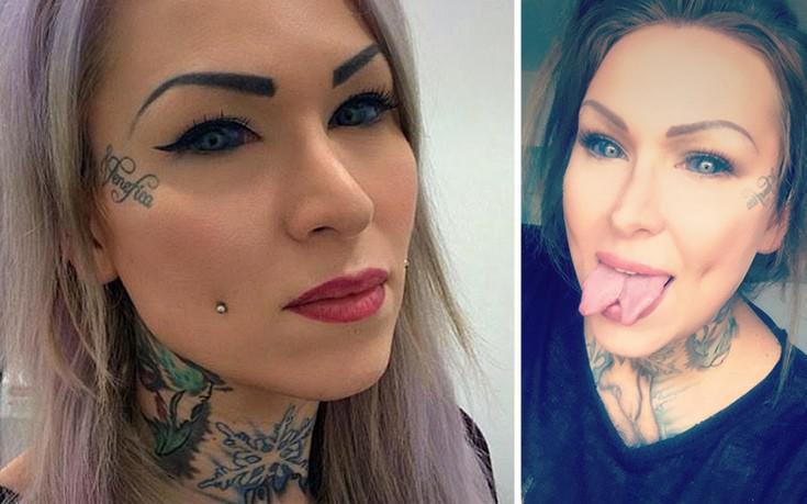 Η τατουατζού με τη γλώσσα φιδιού που κινδυνεύει να τυφλωθεί μετά από αυτό που έκανε στα μάτια της