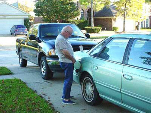 When your car's out of gas...