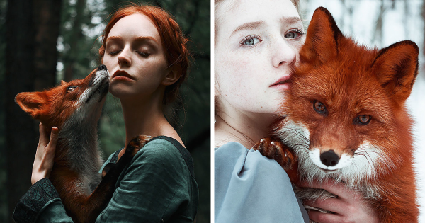 Ουζμπέκα φωτογράφος χρησιμοποιεί κοκκινομάλλες και μια κόκκινη αλεπού για να δημιουργήσει παραμυθένια πορτρέτα.