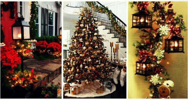 10 εκπληκτικές ιδέες για να στολίσετε χριστουγεννιάτικα το σπίτι με γιρλάντες!