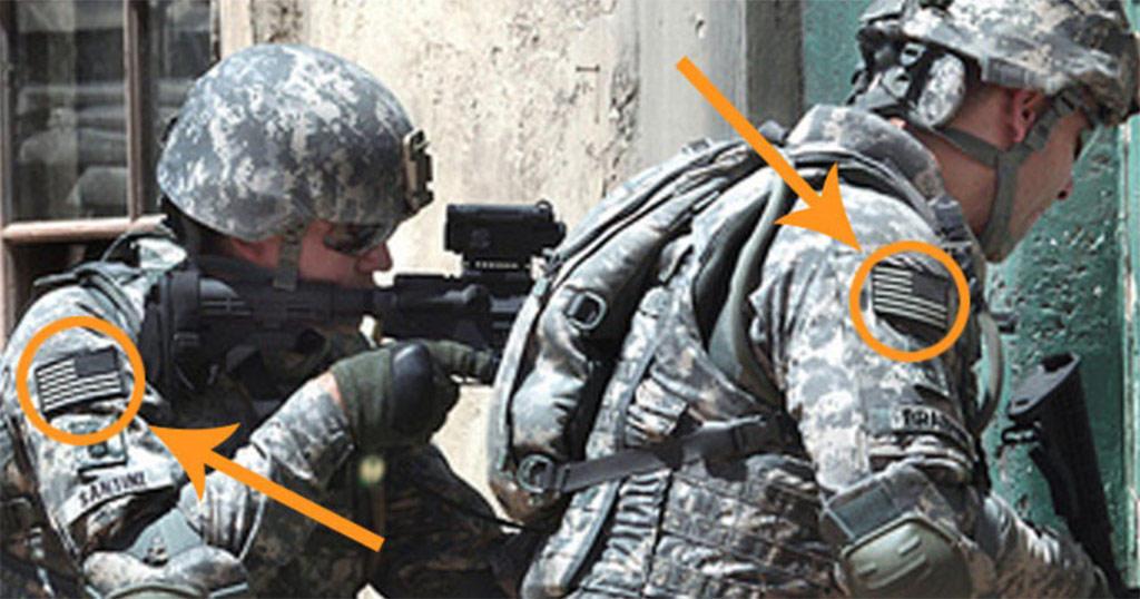 Γιατί η αμερικανική σημαία είναι ραμμένη ανάποδα στις στρατιωτικές στολές;