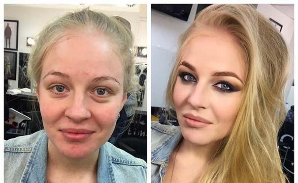 ΠΡΙΝ ΚΑΙ ΜΕΤΑ! Η θεαματική μεταμόρφωση γυναικών πριν και μετά το μακιγιάζ!