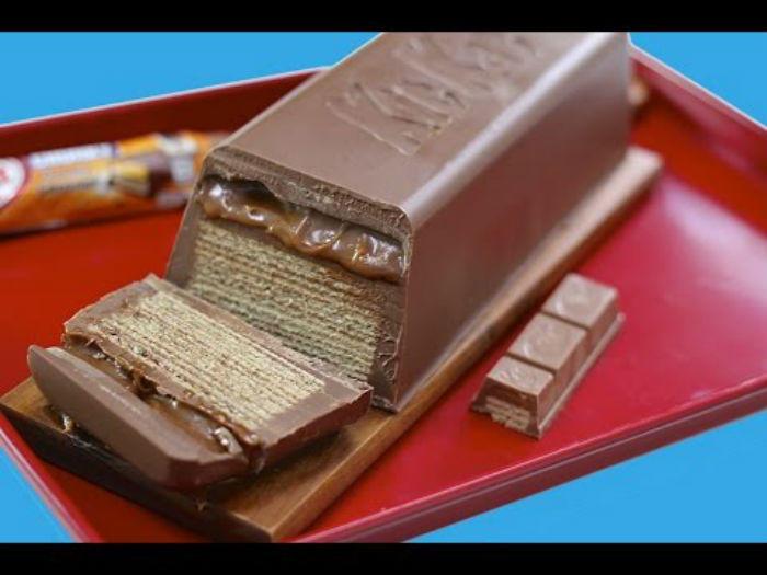 Φτιάξτε ένα γιγάντιο Kit Kat για τα παιδικά πάρτυ με 2 μόνο υλικά!