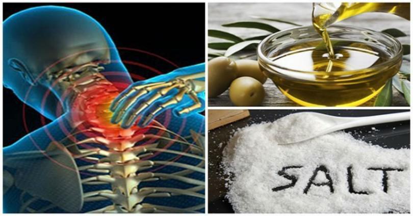 Ανακατέψτε λίγο αλάτι με ελαιόλαδο και δεν θα αισθανθείτε πόνο για τα επόμενα 5 χρόνια