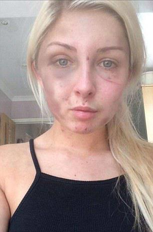 James McCourt, 19, hid his girlfriend Kelsie Skillen's mobile phone and locked her in the apartment they shared in Milton, Glasgow, before battering her for hours while shouting: 'You're going to have a bruised face tomorrow so I better do it right'