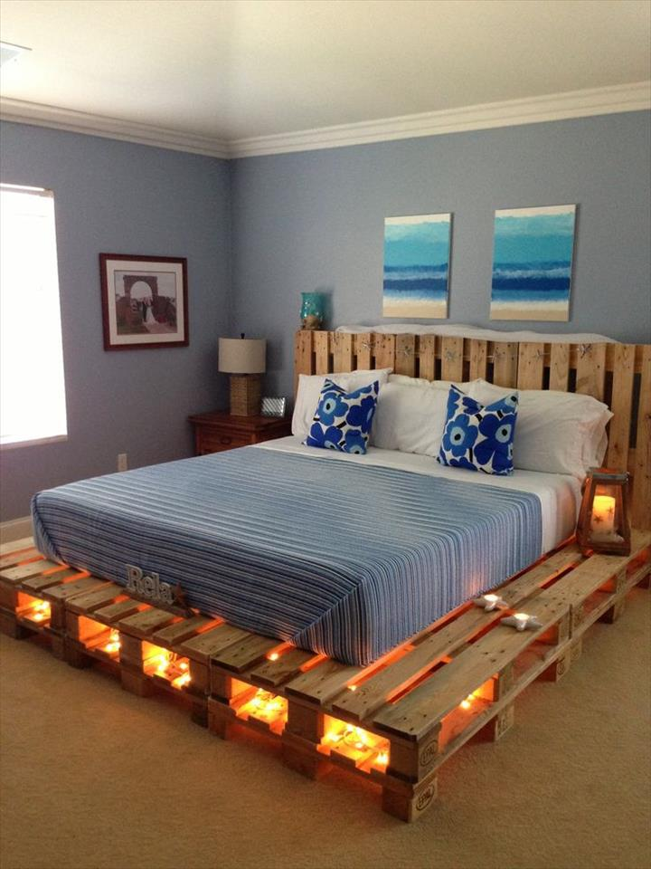 diy-pallet-platform-bed-with-lights