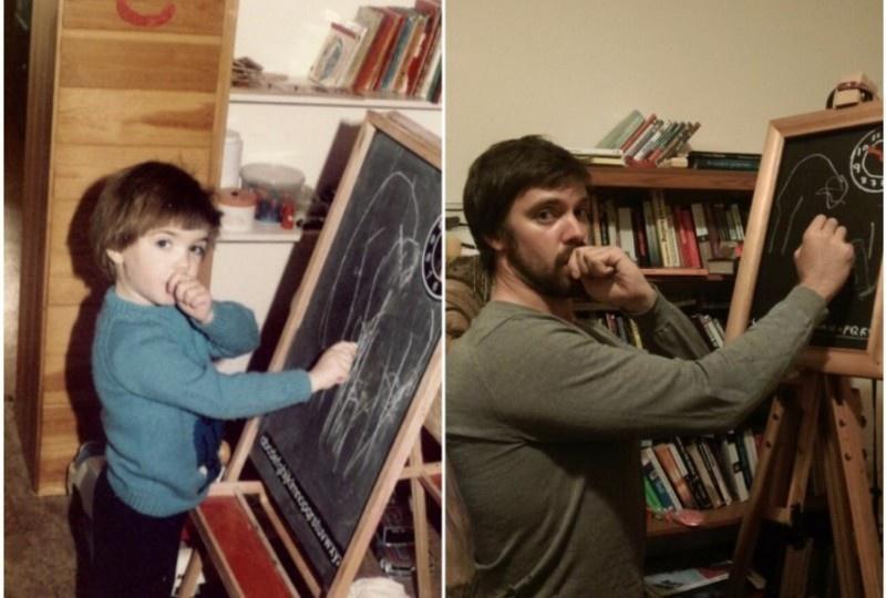 20 τύποι που αναδημιούργησαν τις παιδικές τους φωτογραφίες και το αποτέλεσμα είναι πραγματικά αστείο
