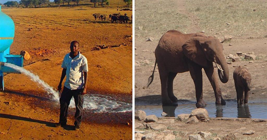 Κενυάτης οδηγεί καθημερινά στην έρημο για να προσφέρει νερό στα άγρια ζώα