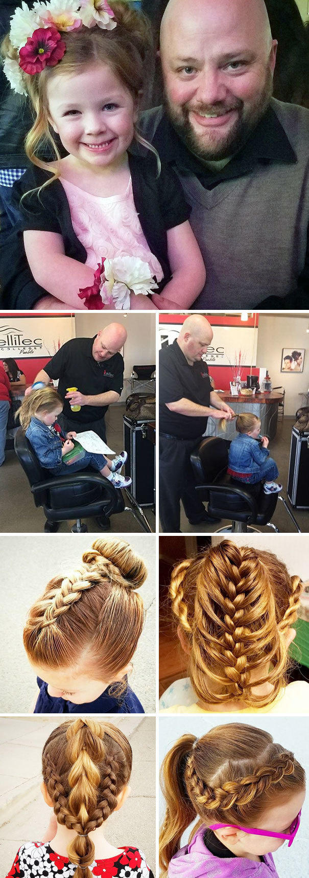 A single dad who couldn't do his daughter's hair.