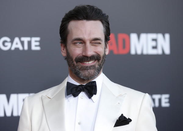 "Actor Jon Hamm poses at the ""Mad Men"" Black and Red Ball to celebrate the final seven episodes of the AMC television series in Los Angeles Wednesday, March 25, 2015. REUTERS/Danny Moloshok - RTR4UWG8"