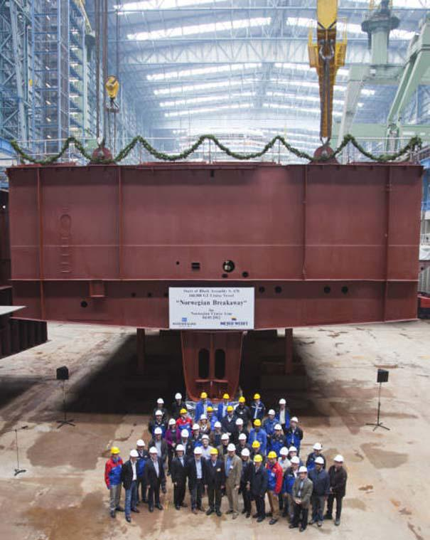 Κρουαζιερόπλοιο σε φάση κατασκευής (1)