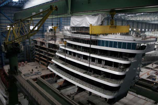 Κρουαζιερόπλοιο σε φάση κατασκευής (3)