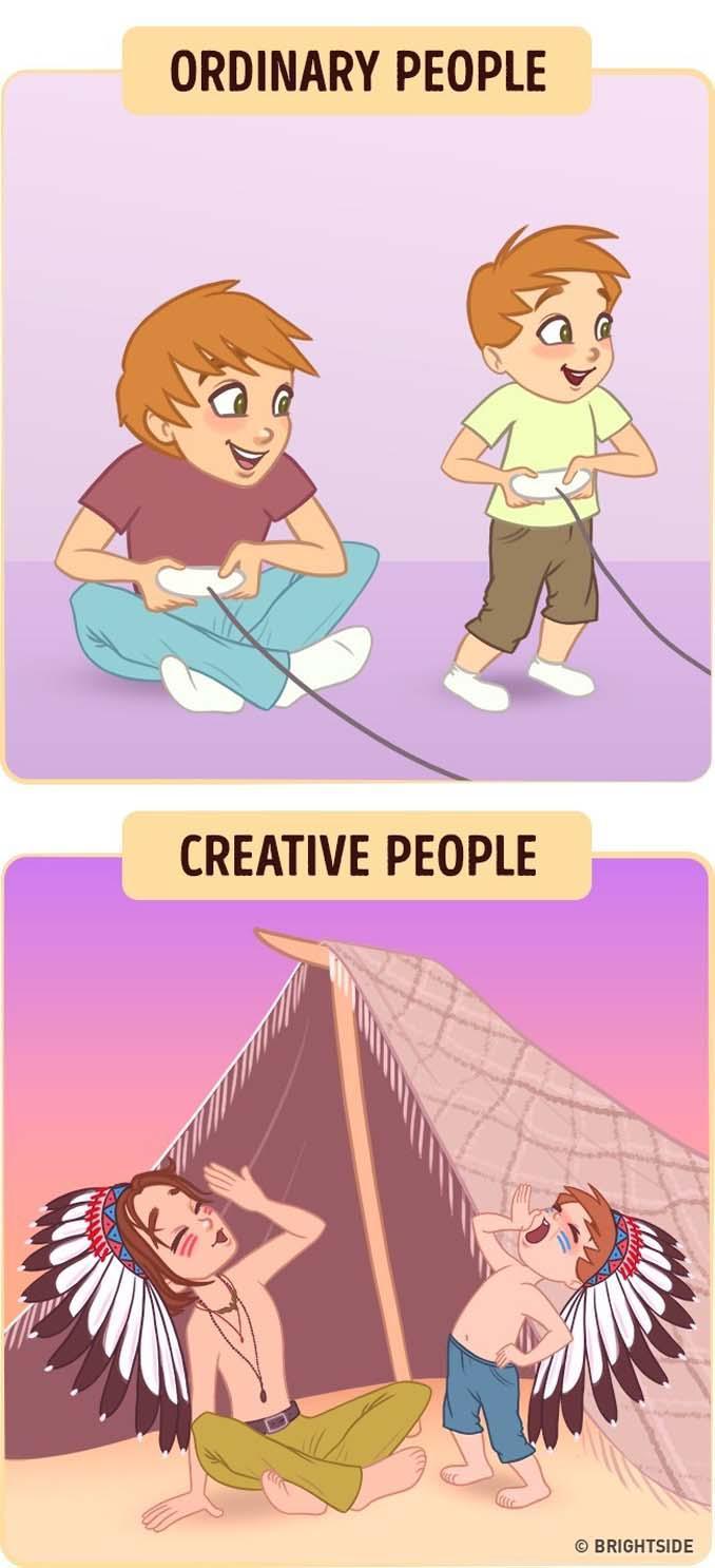 10 διασκεδαστικά σκίτσα δείχνουν πως βλέπουν τον κόσμο οι δημιουργικοί άνθρωποι (9)