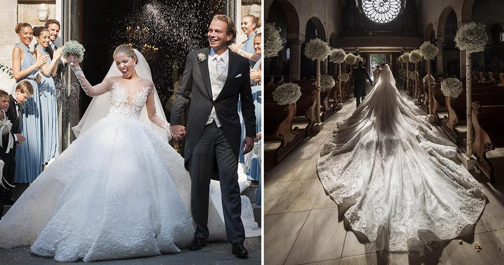 Παντρεύτηκε η 23χρονη κληρονόμος των Swarovski με νυφικό 500.000 κρυστάλλων
