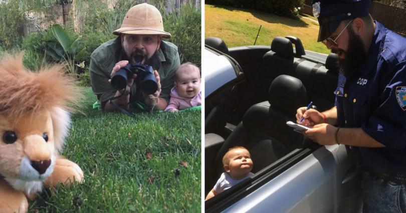 Θεότρελος μπαμπάς φοράει 12 διαφορετικές στολές και βγάζει ξεκαρδιστικές φωτογραφίες με τη κόρη του