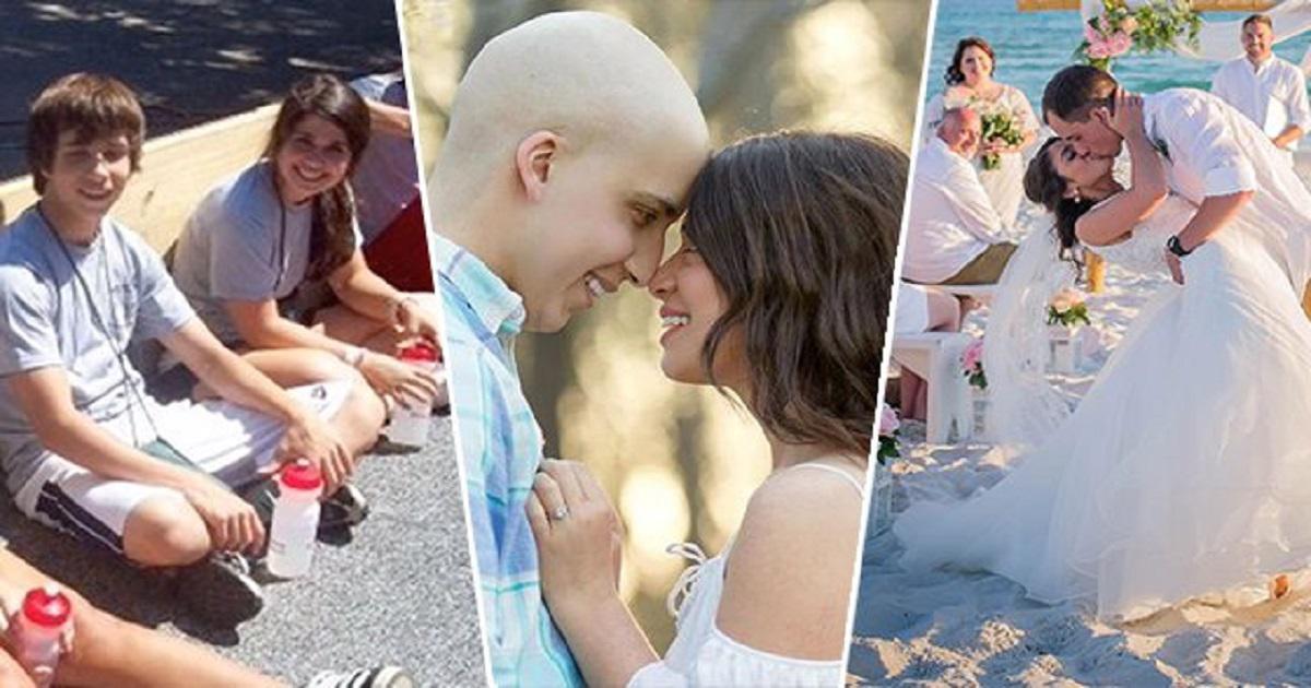Cancer survivor wedding