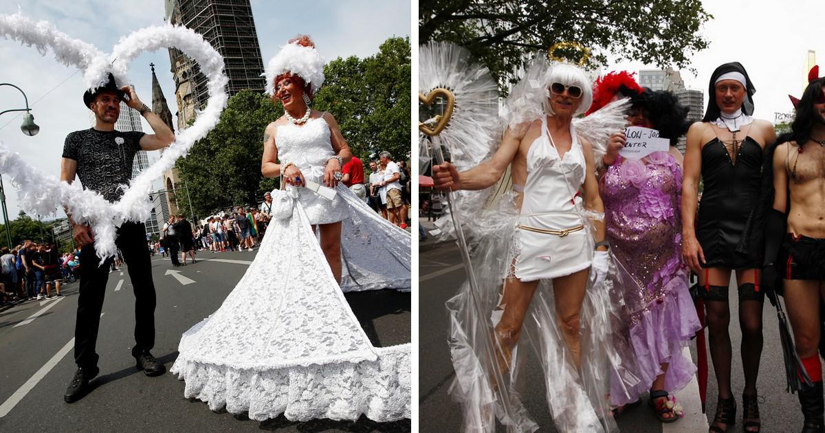 Στο Βερολίνο γιόρτασαν τον νόμο για τον γάμο των ομοφυλοφίλων στο Gay Pride