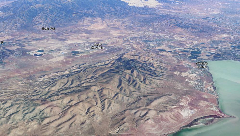 Aerial rendering of Eagle Mountain, Utah. (Google Maps)