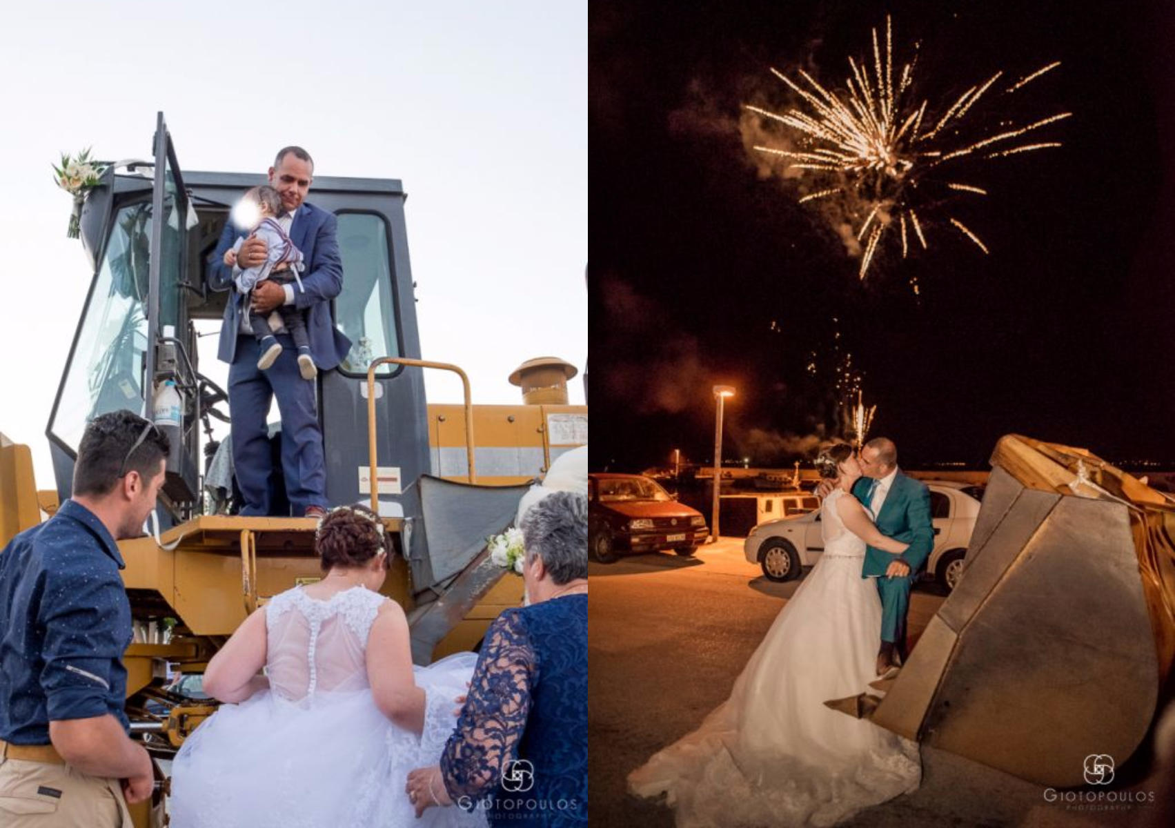 ef6d29a43ea Σε μπουλντόζα φόρτωσε τη νύφη ο γαμπρός σε γάμο στην Πρέβεζα ...
