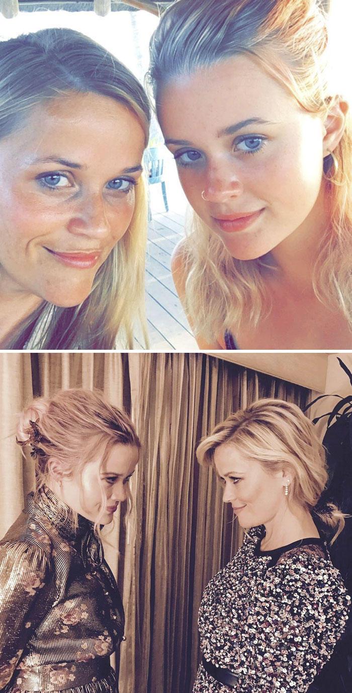 Ηθοποιός Reese Witherspoon (41) και η κόρη της Ava Phillippe (17)