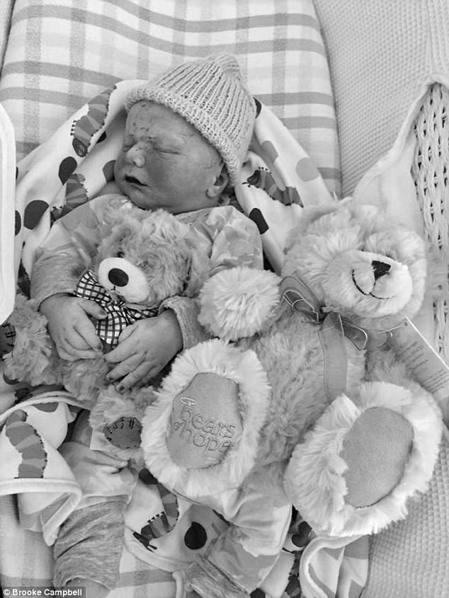 The infant was stillborn, leaving his parents and his two-year-old brother with a few moments to build memories of him in candid photographs