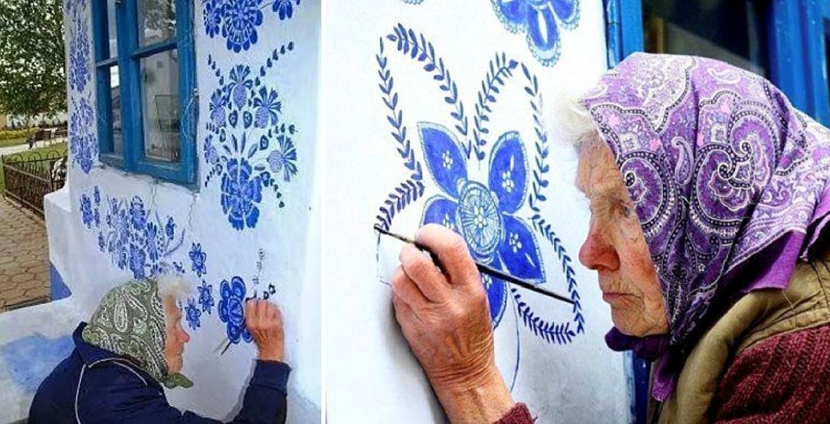 90χρονη γιαγιά από την Τσεχία περνά το χρόνο της ζωγραφίζοντας τα σπίτια του χωριού της