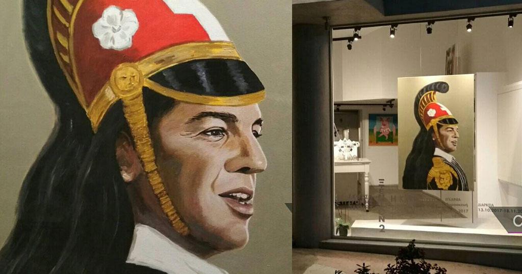 Ο Τσίπρας φιγουράρει ως Κολοκοτρώνης σε έκθεση τέχνης στο Ηράκλειο