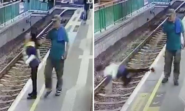 Άντρας σπρώχνει καθαρίστρια στις γραμμές του τρένου και φεύγει ατάραχος μετά την επίθεση