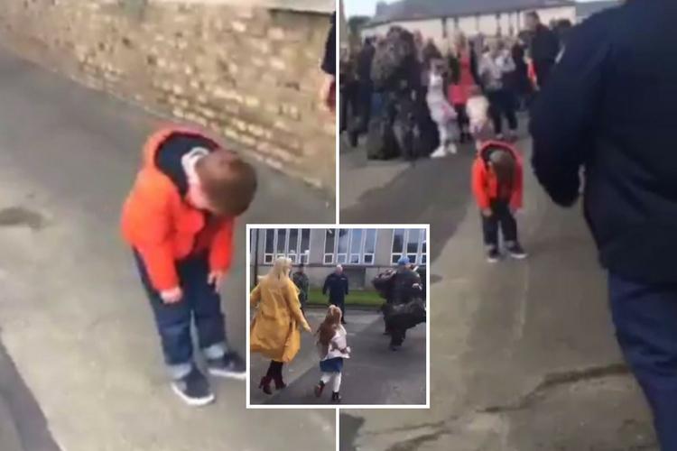 Γιος στρατιωτικού βλέπει τον μπαμπά του μετά από 6 μήνες και δεν μπορεί να κουνηθεί από τη συγκίνηση