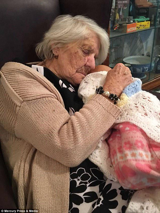 Whenever her family go to see Jessie at her nursing home she is cuddling the doll in her arms