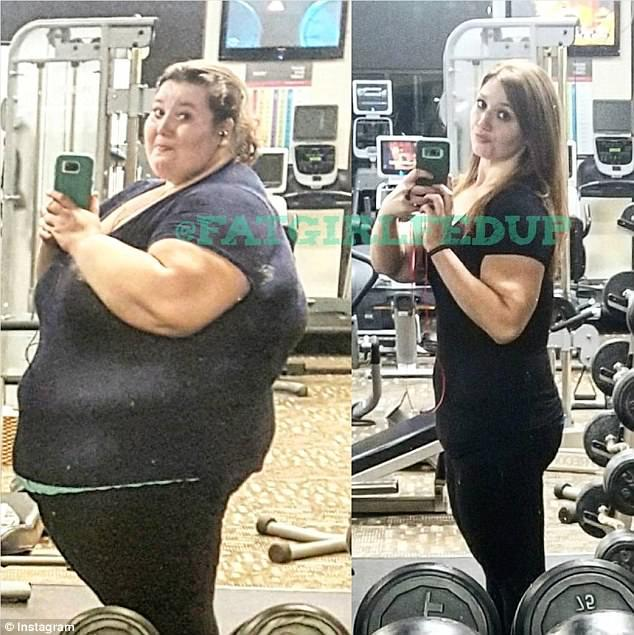 Transformation: The 26-year-old from Terre Haute, Indiana weighed 485lbs at the start of her weight loss journey