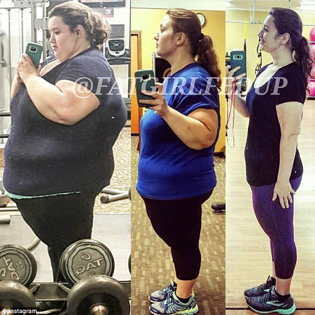 Success: Lexi traded traded fast-food for home cooked meals and started going to the gym five-six times a week