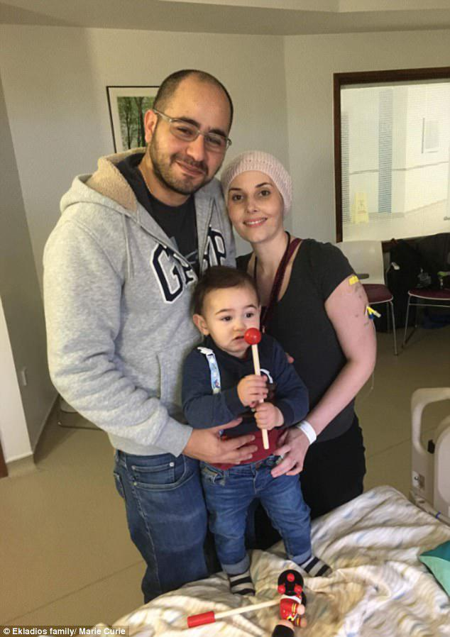 She has been given six months to live and plans on spending as much time as she can with her husband Tifa (pictured left) and little boy Daniel (pictured centre)