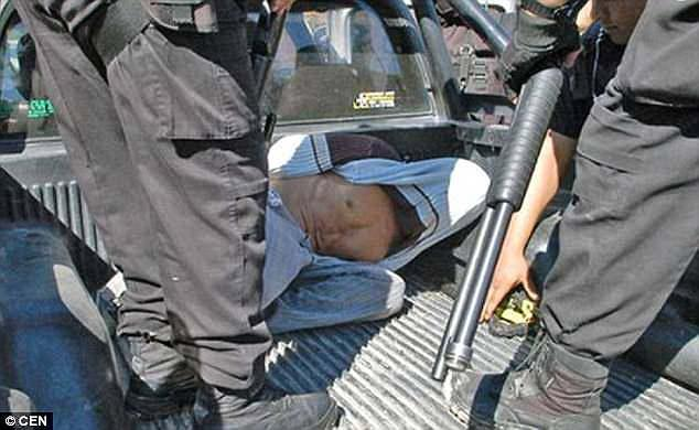 Bulacio (seen above being taken into custody) treated his daughter as a sex slave, threatening to kill her is she did not comply with his wishes