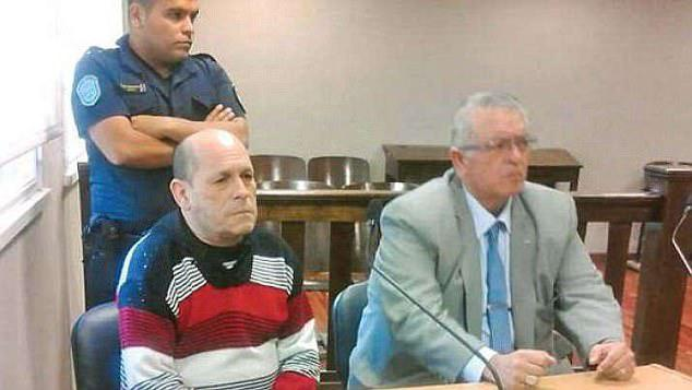 Domingo Bulacio (pictured, left, in a file photo) remained impassive as he received his sentence on Wednesday