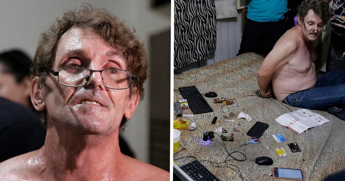Ανατριχιαστικές εικόνες από το σπίτι παιδόφιλου κατά την ώρα της σύλληψής του